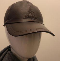 Beyzbol şapkası Loro Piana deri / kaşmir