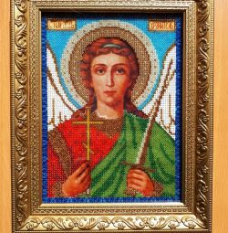 "Icoana ""Sfântul Înger Păzitor"" brodat cu margele"
