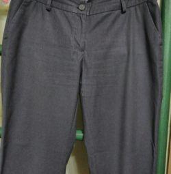 Pantaloni gri pentru femei de dimensiune 48.