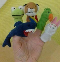🐶🐼🐰🐘 Παιχνίδια δάχτυλα '' Ζώα '' Ikea
