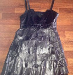 Dress 100% leather