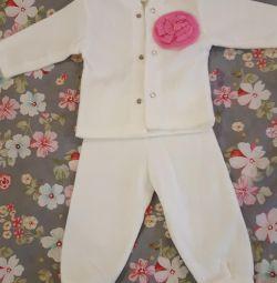 Fleece new suit for 62 sizes