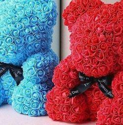 Ursul de trandafiri 40 cm 🐻