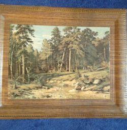 I.Shishkin Pine Forest. mat 38х31 cm