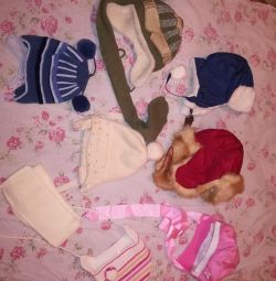 Caps new and used girls and boys 2-3 years