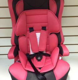 Car seat Mishutka 1-12 years. Pink