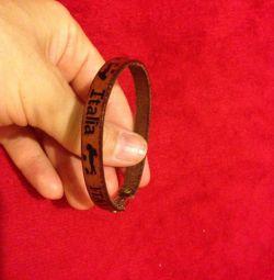 Bracelet made of genuine leather