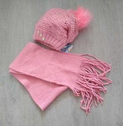 hat + scarf for girls p.52-54 autumn