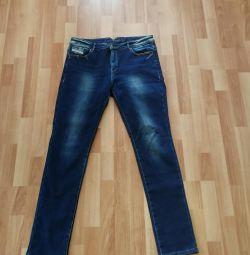 Jeans cu incalzire 48-50 size👖