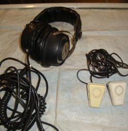 Ακουστικά tds-1 / μικρόφωνο md-201 ΕΣΣΔ
