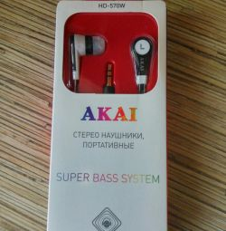 New branded headphones in the package