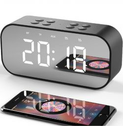 🔥 Bluetooth 5.0 Stereo Speaker Clock AEC BT501 5W