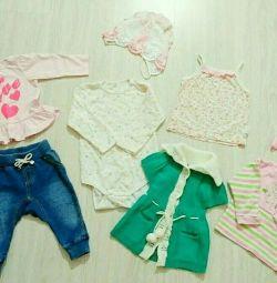 Giysiler 1-6 ay. kıza