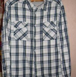 Shirt on fleece.