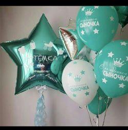 İfade için helyum balonları (topları)
