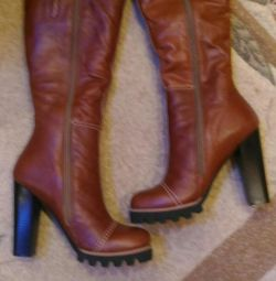 Cool leather new winter boots, rr. 38