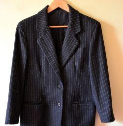 The jacket is female black, 44-46 size