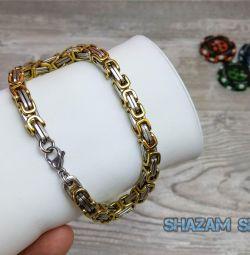 Surgical Steel Steel Rage Bracelet
