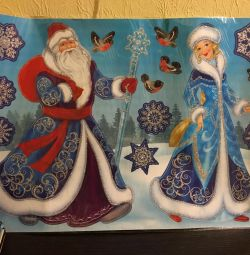 Stickers Visiting Santa Claus and Snow Maiden