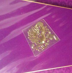 24Κ χρυσά αυτοκόλλητα (999 πρότυπα)