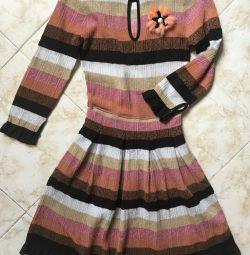 Fendi ❤ dress Rochie Glamour cu brosa, original, 🇮🇹