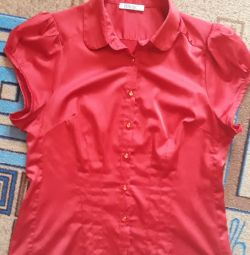 Satin blouse, size 46-48