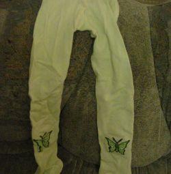 Νέες κάλτσες με πεταλούδα σε ύψος = -120-134.