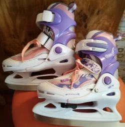 Skates sliding children