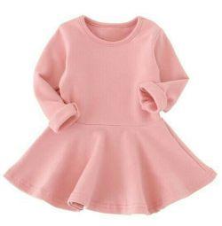 Трикотажное детское платье новое
