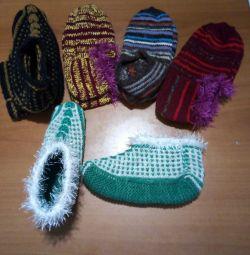 Cizme tricotate, urme