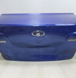 The trunk lid Lada Granta sedan oem 21900560401077 (dent) (skl-3)