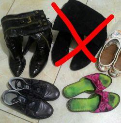 Обувь пакетом (сапоги, кроссовки, мокасины)