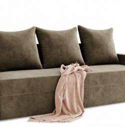 Καναπές από ένα ίσιο Quadro-3 (στο μπλοκ ελατηρίου)