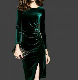 βελούδο φόρεμα