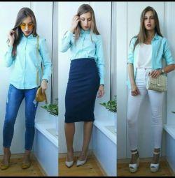 Блузка-сорочка хлопок 42 р-р