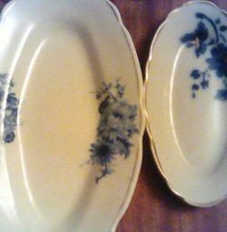 Dish for fish + trays.
