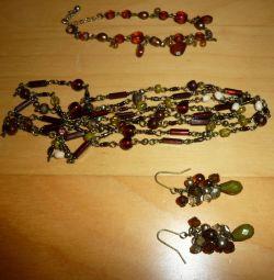 Σετ - κολιέ, σκουλαρίκια, βραχιόλι