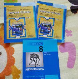 8 Geography 2 workbooks and Informatics2h