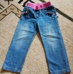 Jeans for a girl, 92cm