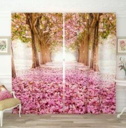 Photocurtains Flower Alley