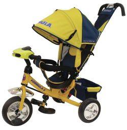 Three-wheeled bicycle Formula-3 PVC yellow