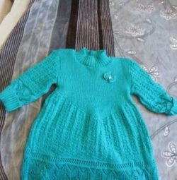 Νέο πλεκτό φόρεμα για κορίτσι