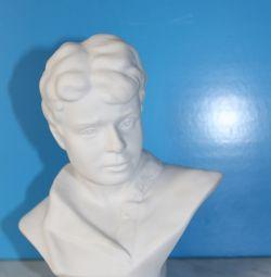 Figurină din porțelan. Yesenin, bust