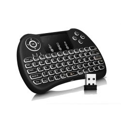 Rii tastatură mini wireless Blacklit Touchpad