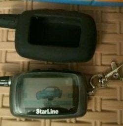 Key ring alarm starline a9 / a8, new + case