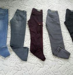 Jeans 5 pairs rr 29 cotton branded