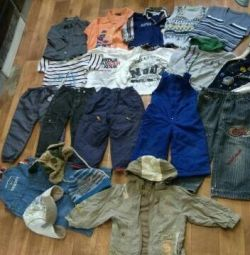Clothing for a boy package from 1 to 2 years