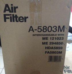 Air filter on Mitsubishi, Hyundai cargo