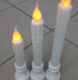 Светодиодные свечи с имитацией свечения пламени