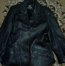 Jacket leather size L.